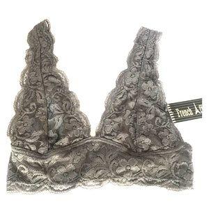 Grey Lace Bralette